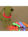 Cat / Dog Collar LED Lights / Adjustable/Retractable Solid Red / Green / Blue / Pink / Yellow / Orange Nylon