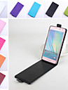 For Samsung Galaxy Case Flip / Magnetic Case Full Body Case Solid Color PU Leather Samsung A5
