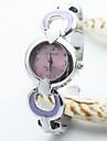 Femme Montre Tendance Quartz Alliage Bande Bracelet Montre / bracelet Blanc / Bleu / Rouge / Rose / Violet