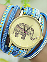 Women's European Style Fashion Rhinestone Rivets Elephant Pattern Bracelet Watch Cool Watches Unique Watches