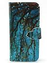 Для Кейс для  Samsung Galaxy Бумажник для карт / Кошелек / со стендом / Флип Кейс для Чехол Кейс для дерево Искусственная кожа SamsungS6