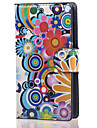 For Nokia Case Card Holder / Wallet / with Stand Case Full Body Case Flower Hard PU Leather Nokia Lumia 532