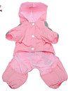 Cat / Dog Rain Coat Red / Pink Dog Clothes Spring/Fall Classic Waterproof / Windproof
