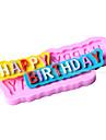 Форма счастлив, день рождения помады плесень торт украшение форма