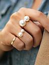 Массивные кольца Жемчуг Сплав Регулируется Мода Золотой Серебряный Бижутерия Для вечеринок 1шт