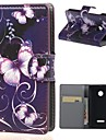 Butterfly PU Leather Wallet Full Body Case with Stand for Microsoft Lumia 532