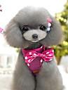 Cat / Dog Harness / Leash Adjustable/Retractable / Cosplay Black / Rose Textile / Nylon