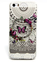 Butterfly Pattern TPU Relief Back Cover Case for iPhone 5/iPhone 5S