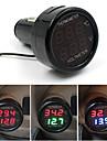 batterie de voiture moniteur voltmètre pour 2in1 thermomètre numérique -10-80celsius 12V et 24V