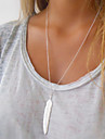 Women\'s Layered Necklaces Alloy Feather Fashion Gold Silver Jewelry Special Occasion Birthday Gift