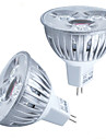 Focos LED Decorativa HRY MR16 GU5.3(MR16) 3W 3 LED de Alta Potencia 260 LM Blanco Calido / Blanco Fresco DC 12 V 1 pieza