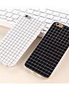den enkel svart og hvit farge Matt smaa gitter TPU tilfeller for iPhone 5 / 5s (assorterte farger)