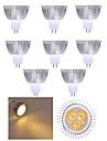 10pcs 3w MR16 350lm теплый / холодный белый свет водить пятна света (12v)