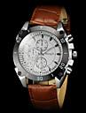 Men\'s Casual PU Strap Quartz Wrist Watch Cool Watch Unique Watch