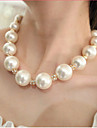 Women\'s Strands Necklaces Pearl Necklace Pearl Imitation Pearl Rhinestone Imitation Diamond Alloy Bridal Costume Jewelry Jewelry For