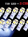 10 PCS T10 White 168 194 501 W5W 5 SMD LED Car Side Wedge Light Lamp Bulb DC 12V