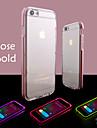 Для Кейс для iPhone 6 / Кейс для iPhone 6 Plus Мигающая LED подсветка / Прозрачный Кейс для Задняя крышка Кейс для Один цвет Мягкий TPU