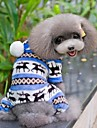 Dog Clothes/Jumpsuit Pajamas Blue Brown Pink Gray Dog Clothes Winter Spring/Fall Snowflake Cute Casual/Daily