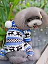 Caes Macacao Pijamas Azul Marrom Rosa Cinzento Roupas para Caes Inverno Primavera/Outono Floco de Neve Fofo Casual