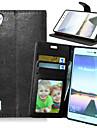 На все тело бумажник / Визитница / с подставкой Однотонные Искусственная кожа жесткий Для крышки случая HuaweiHuawei P8 / Huawei P8 Lite
