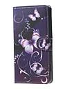 Назначение Кейс для Alcatel Чехлы панели Кошелек Бумажник для карт со стендом Флип С узором Чехол Кейс для Бабочка ТвердыйИскусственная