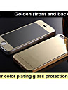 Mirror color plating anti explosion glass protection film (front and back) for iPhone4