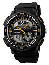 SKMEI 남성 손목 시계 디지털 시계 LCD 달력 크로노그래프 방수 듀얼 타임 존 경보 스포츠 시계 석영 디지털 일본 쿼츠 고무 밴드 블랙
