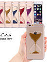 Dynamic Flowing Sand Hourglass Glitter Quicksand Capa Clear Case for iPhone 5/5S(Assorted Colors)