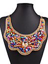 Womens Colorful Rhinestone Shell Handmake Necklace