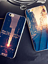 Dawn Sunset Sunrise City Blue Light Reflective Blu-ray Soft TPU Case for iphone 5/5s