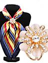 мода декор алмаз опал цветок шарф пряжки
