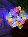6.5m forme 30LED bulle chaine de lumieres solaires fines mariage lumieres de Noel lumieres de decoration