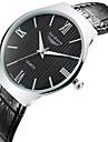 Hombre Reloj de Moda Cuarzo Resistente al Agua Piel Banda Reloj de Pulsera Negro / Marron