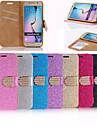Для Кейс для  Samsung Galaxy Бумажник для карт / Стразы / Флип Кейс для Чехол Кейс для Сияние и блеск Искусственная кожа SamsungS6 edge