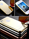 New Luxury High Quality Aluminum Metal Frame Case + Ultra Slim Acrylic Mirror Back Cover For iPhone 4/4S