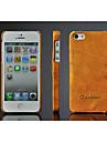 Pour Coque iPhone 5 Porte Carte Coque Coque Arriere Coque Couleur Pleine Dur Cuir PU pour iPhone SE/5s/5