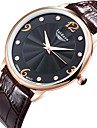 Men's Zircon Genuine Leather Quartz Watches Wrist Watch Cool Watch Unique Watch