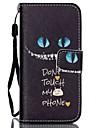 아이폰 5C를위한 고양이 패턴 PU 가죽 소재 플립 카드 전화 케이스