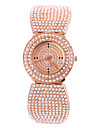 Femme Montre Tendance Quartz Chronographe Imitation de diamant Alliage Bande Elegantes Or Rose Or Rose