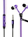 3.5mm auriculares cremallera creativas para 6s iphone iphone 6 mas iphone 5s / 5 y otros (colores surtidos) moviles