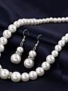 Women\'s European Fashion Gourd Imitation Pearls Alloy  Pendant Necklace (1 Pc)