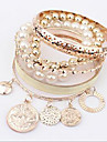 Multilayer Alloy / Imitation Pearl Bracelet Bangles Daily / Casual 1pc