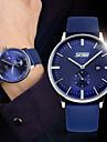 Hombre Reloj de Pulsera Cuarzo Resistente al Agua Piel Banda Negro Blanco Azul Marron Negro/blanco # 1 # 2 # 3 # 4