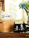 "Ceramica 300ml Inovador Pattern Cat Cup, 5.1 ""x4.3"" x3.7 """