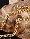 Ожерелье Ожерелья-бархатки Бижутерия Свадьба / Для вечеринок / Повседневные / Спорт Титановая сталь / Позолота Золотой 1шт Подарок