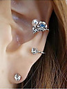 Stud Earrings Crystal Alloy Simulated Diamond Silver Golden Jewelry Party Daily Casual 2pcs