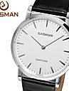 EASMAN Mens Dress Watches Swiss Quartz Sapphire Glass Genuine Leather Quartz Watch Wristwatch Cool Watch Unique Watch