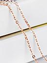 Femme Colliers chaines Forme de Croix Or Dore Bijoux Pour Mariage Soiree Quotidien Decontracte 1pc