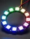 WS2812 5050 RGB 12-LED Round Lamp Development Board - Black