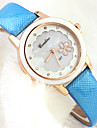 Women's Fashion Style Leather Band Quartz Analog Wrist Watch Cool Watches Unique Watches